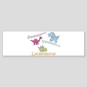 Grandma, Grandpa, & Lucasosau Bumper Sticker