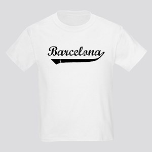 Barcelona (vintage) Kids Light T-Shirt