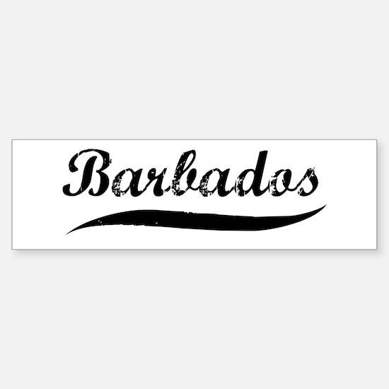 Barbados (vintage) Bumper Bumper Bumper Sticker