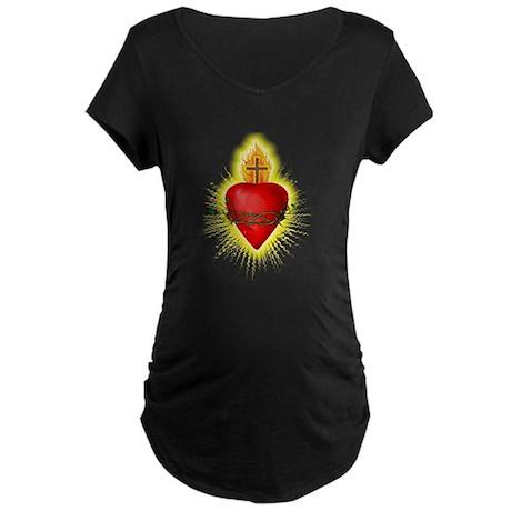 Sacred Heart / Sacred Art Maternity Dark T-Shirt
