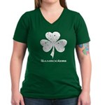Shamrockers Shamrock V-Neck Dark T-Shirt