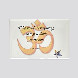 The Mind is Everything Rectangle Magnet