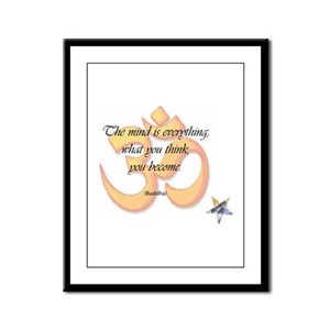 The Mind is Everything Framed Panel Print
