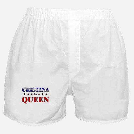 CRISTINA for queen Boxer Shorts