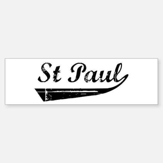 St Paul (vintage) Bumper Bumper Bumper Sticker