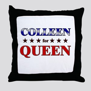 COLLEEN for queen Throw Pillow