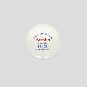 Sambo is my Religion Mini Button