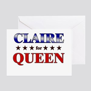 CLAIRE for queen Greeting Card