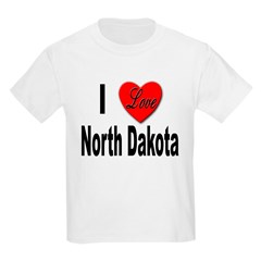 I Love North Dakota Kids T-Shirt
