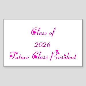 Class of 2026 Future Class President Sticker (Rect