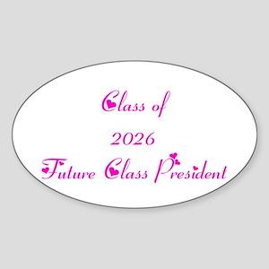 Class of 2026 Future Class President Sticker (Oval