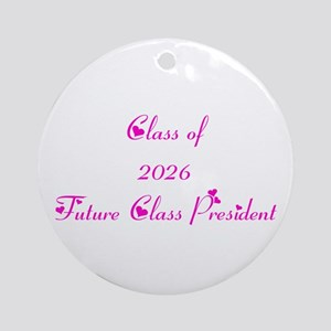 Class of 2026 Future Class President Ornament (Rou