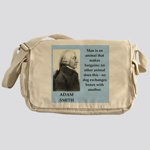 Adam Smith quote on gifts and t-shirts. Messenger