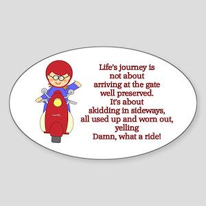 Life's Journey Scooter Oval Sticker