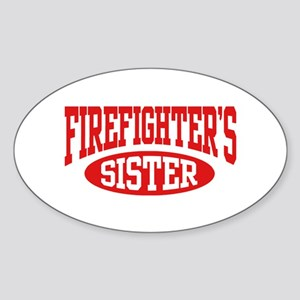 FireFighter's Sister Oval Sticker