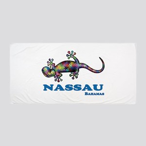 Nassau Gecko Beach Towel