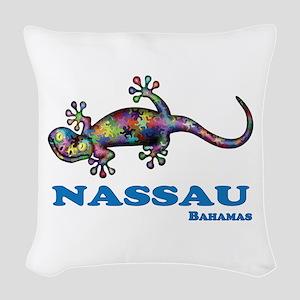 Nassau Gecko Woven Throw Pillow
