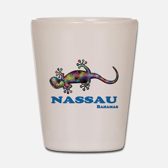 Nassau Gecko Shot Glass