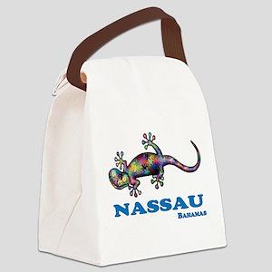 Nassau Gecko Canvas Lunch Bag