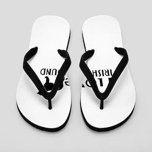 I Love Irish Wolfhound Flip Flops
