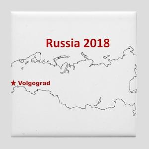 Volgograd, Russia 2018 Tile Coaster