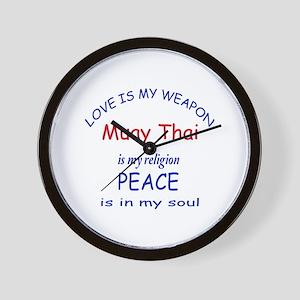 Muay Thai is my Religion Wall Clock