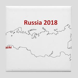 Sochi, Russia 2018 Tile Coaster