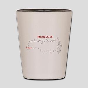Sochi, Russia 2018 Shot Glass