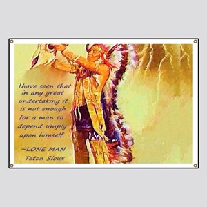Lone Man Sioux Quote Banner