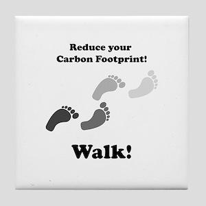 Carbon Footprint Tile Coaster