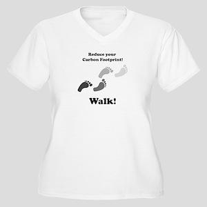 Carbon Footprint Women's Plus Size V-Neck T-Shirt