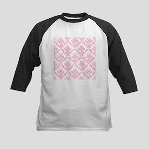 Pink Damask Pattern Baseball Jersey