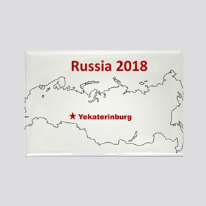Yekaterinburg, Russia 2018 Magnets