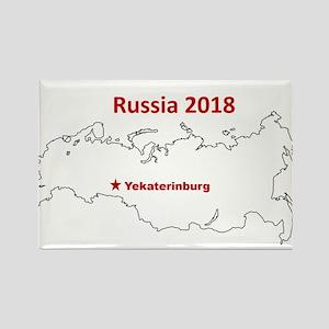 Yekaterinburg, Russia 2018 Magnets