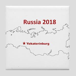 Yekaterinburg, Russia 2018 Tile Coaster