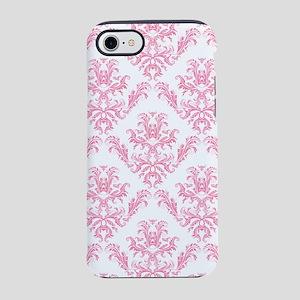 Pink Damask Pattern iPhone 8/7 Tough Case