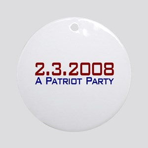 A Patriot Party Ornament (Round)