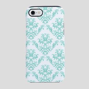 Damask Pattern Teal iPhone 8/7 Tough Case