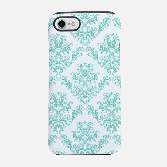 Damask Pattern Teal iPhone 8/7 Tough Case