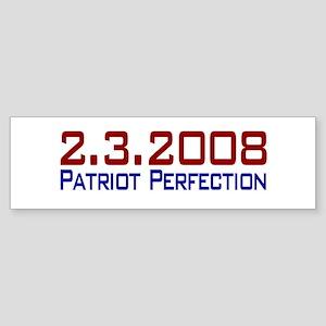 Patriot Perfection Bumper Sticker