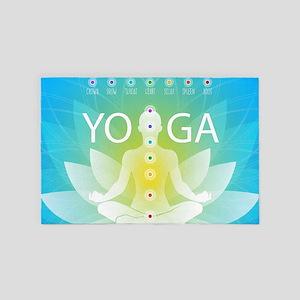 Yoga Chakra Activation 4' x 6' Rug