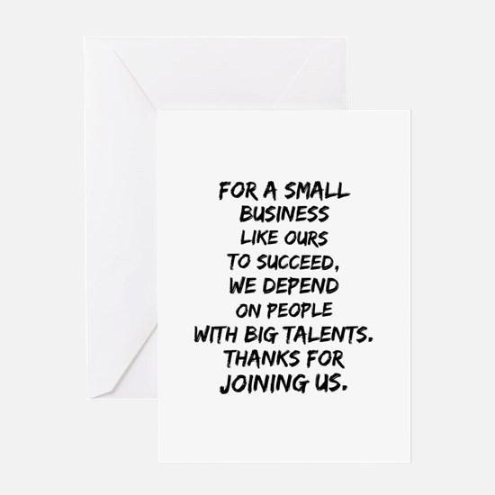 Small business depends it's emp Greeting Cards