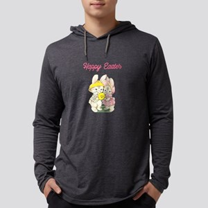 Cuddly Easter Bunnies Pink Long Sleeve T-Shirt