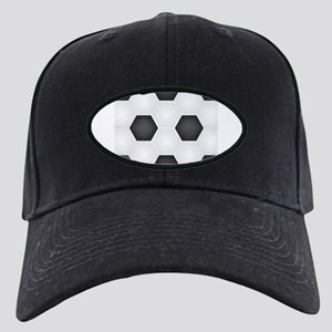 Football Ball Texture Black Cap with Patch