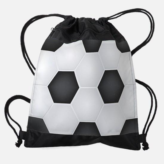 Football Ball Texture Drawstring Bag