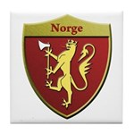 Norway Metallic Shield Tile Coaster