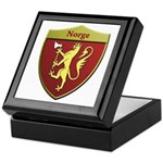 Norway Metallic Shield Keepsake Box