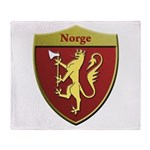 Norway Metallic Shield Throw Blanket