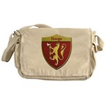 Norway Metallic Shield Messenger Bag