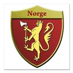 Norway Metallic Shield Square Car Magnet 3